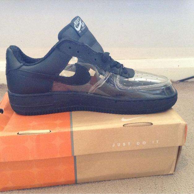Nike Air Force 1 limited edition clear black in RM3 London for £40 ... 8207f991c74c