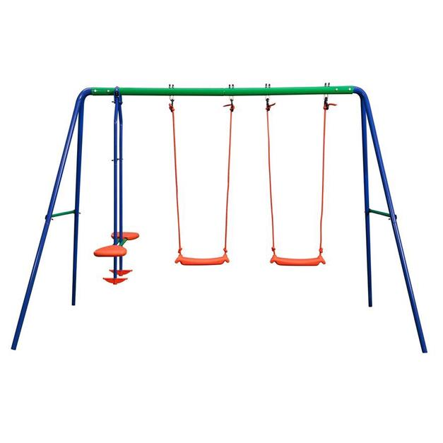Delta Double Swing And Seesaw Swing Set In So41 Forest For 39 99