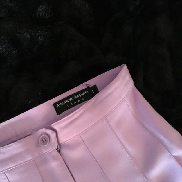 Lilac and White American Apparel Tennis Skirt