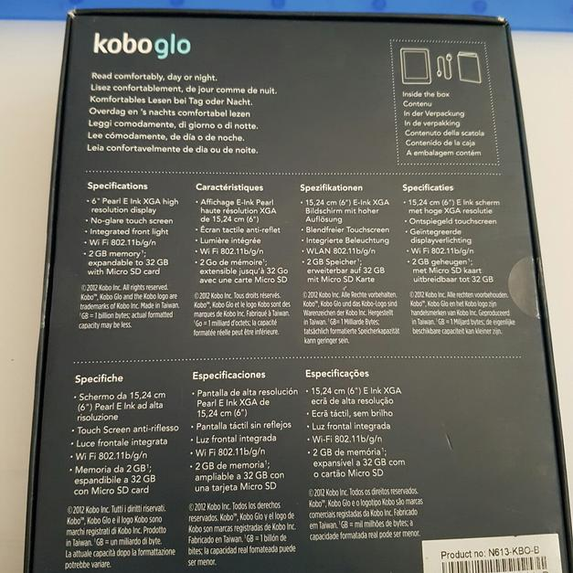 Kobo Glo, vgc boxed with USB charge lead in S30 Sheffield
