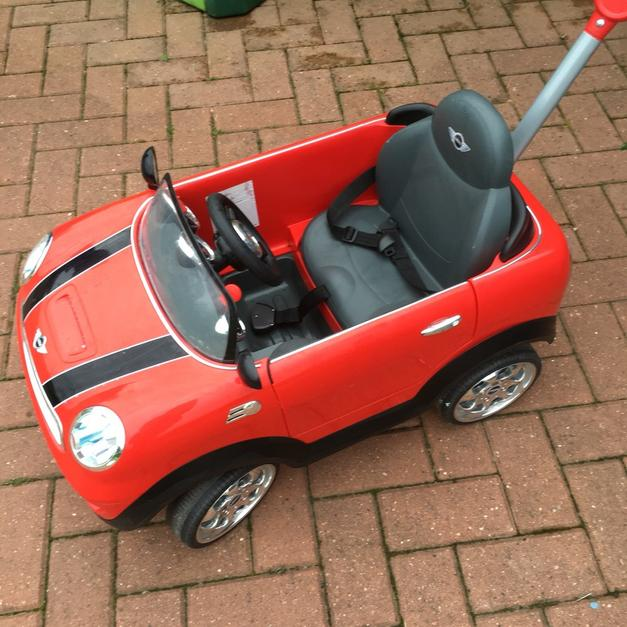red mini cooper push car in rm15 thurrock for £35.00 for sale - shpock