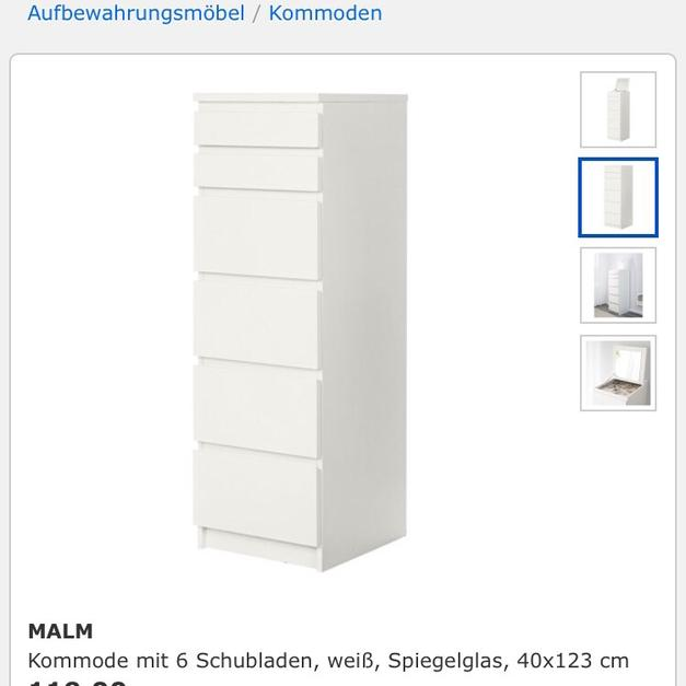 Malm Kommode Mit Spiegel Ikea In 10717 Berlin For 90 Shpock