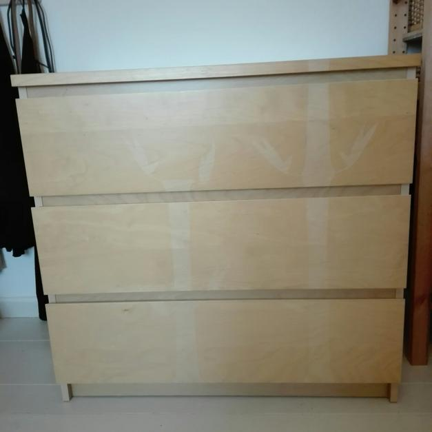 Malm Kommode 3 Schubladen Birke 80x78cm In 45731 Waltrop For 39 00