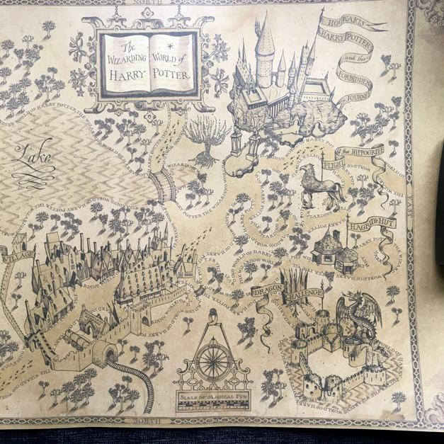Harry Potter 'Wizards World Map\' Karte in 80331 München for €14.00 ...