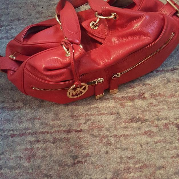 dbfcb2ac934269 Michael Kors genuine red handbag in NW10 London for £25.00 for sale - Shpock
