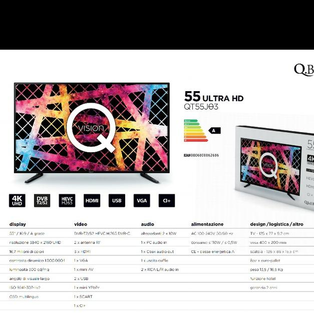 qbell smart tv 55  Qbell 55 pollici ultra hd 4k in 40132 Bologna for €380 - Shpock