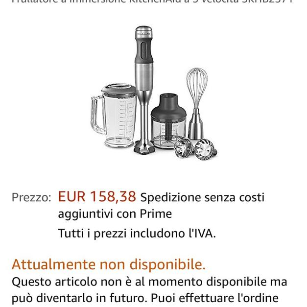 Frullatore ad immersione kitchenaid in 20016 Pero für € 75,00 - Shpock