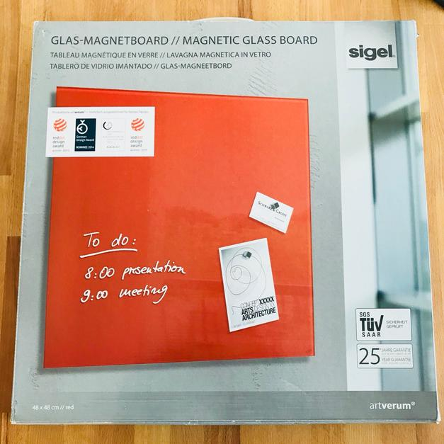 Glas Magnetboard Pinnwand Rot In 72147 Nehren For 24 Shpock