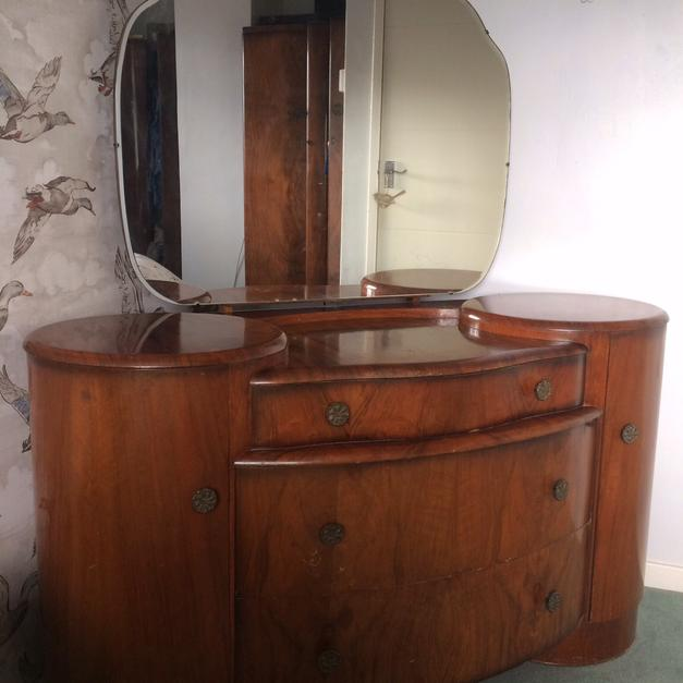 Vintage Shrager Dresser Unit With Mirror In S20 North East