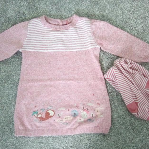 0b928daa0 3-6m Baby girl jumper dress with tights in B14 Birmingham for £1.50 ...