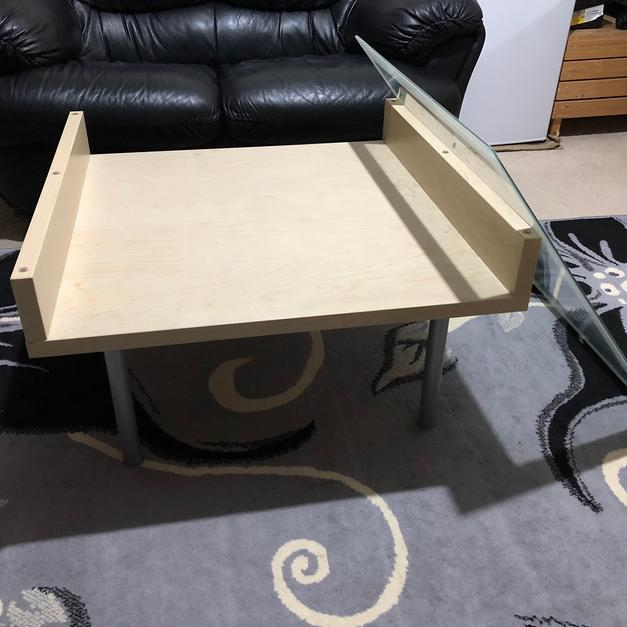 Coffee Table Glass Top Cover: Coffee Tea Wooden Table With Glass Cover In LE2 Leicester