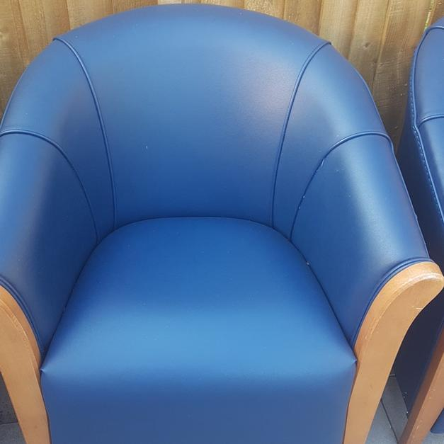 Sofa For Sale In Wolverhampton: Set Of 4 Blue Tub Chairs In WV14 Wolverhampton For £100.00