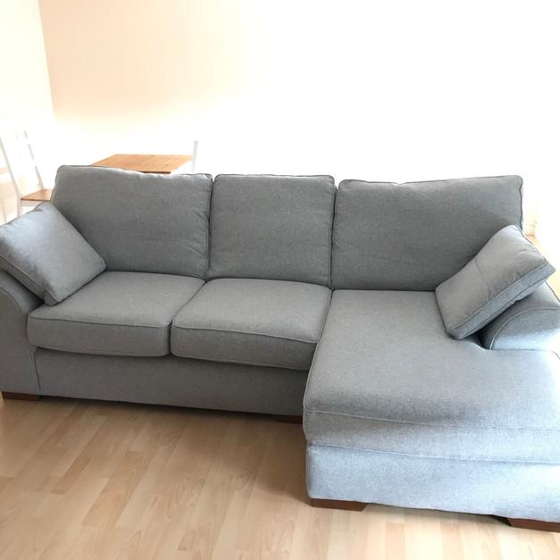 next stamford corner chaise sofa light silver in hu1 hull for rh shpock com Corner Lounges Corner Lounges