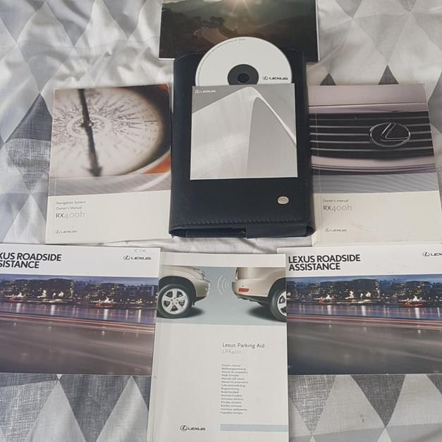 LEXUS RX400H HYBRID OWNERS MANUAL + SATNAV CD