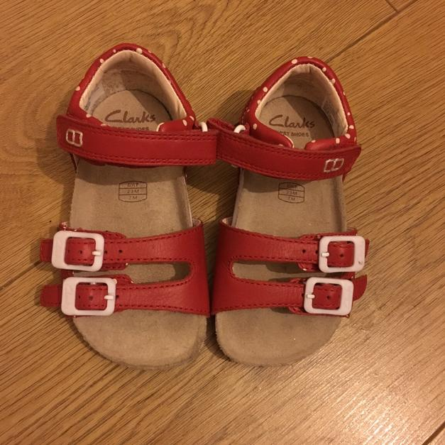 Clarks Toddler Girls Sandals - Size 6.5F in M16 Trafford for £8.00 ...
