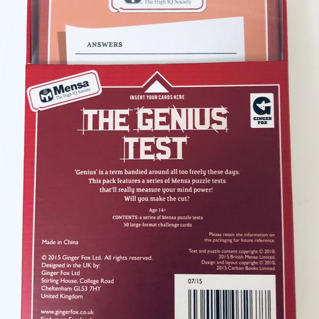 MENSA - THE GENIUS TEST