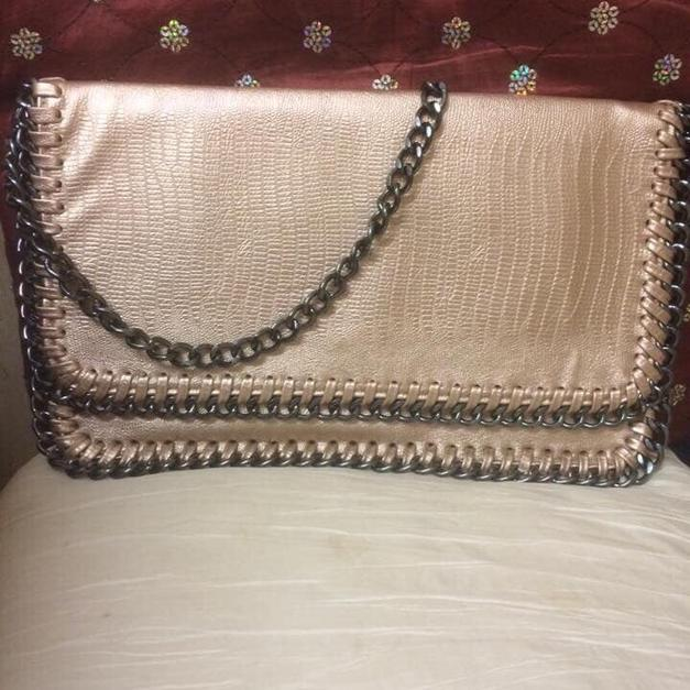 8656ae4d4d BIG GOLD CLUTCH BAG WITH SHOULDER STRAP in Epping Forest for £15.00 - Shpock
