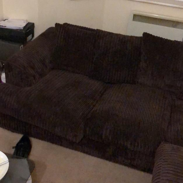 Brown corduroy sofa in Eastbourne for £200.00 for sale - Shpock
