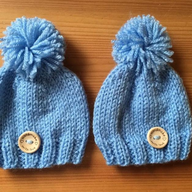 e2d1ca0d4 Baby boys blue handmade woolly winter hats in Meir for £2.00 for ...