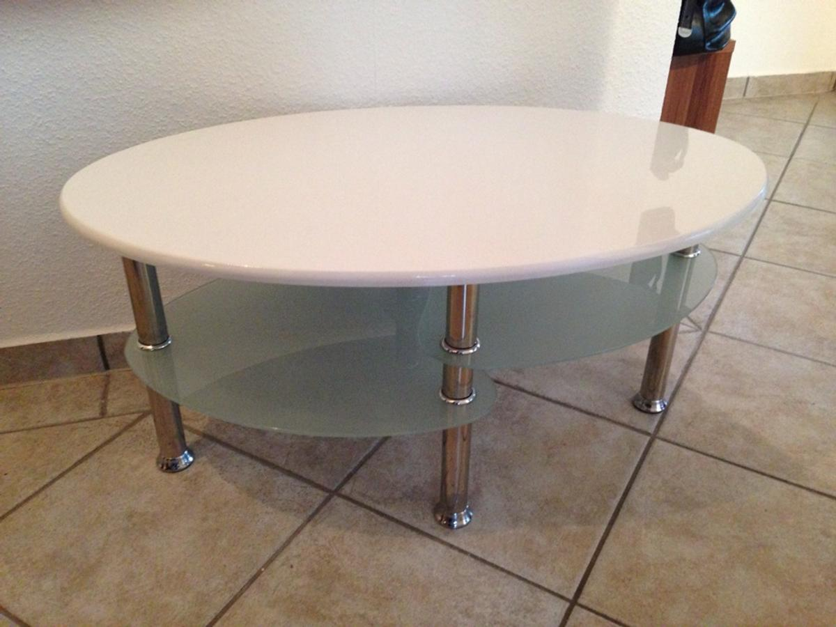 Couchtisch Weiss Oval In 35460 Staufenberg For 25 00 For Sale Shpock