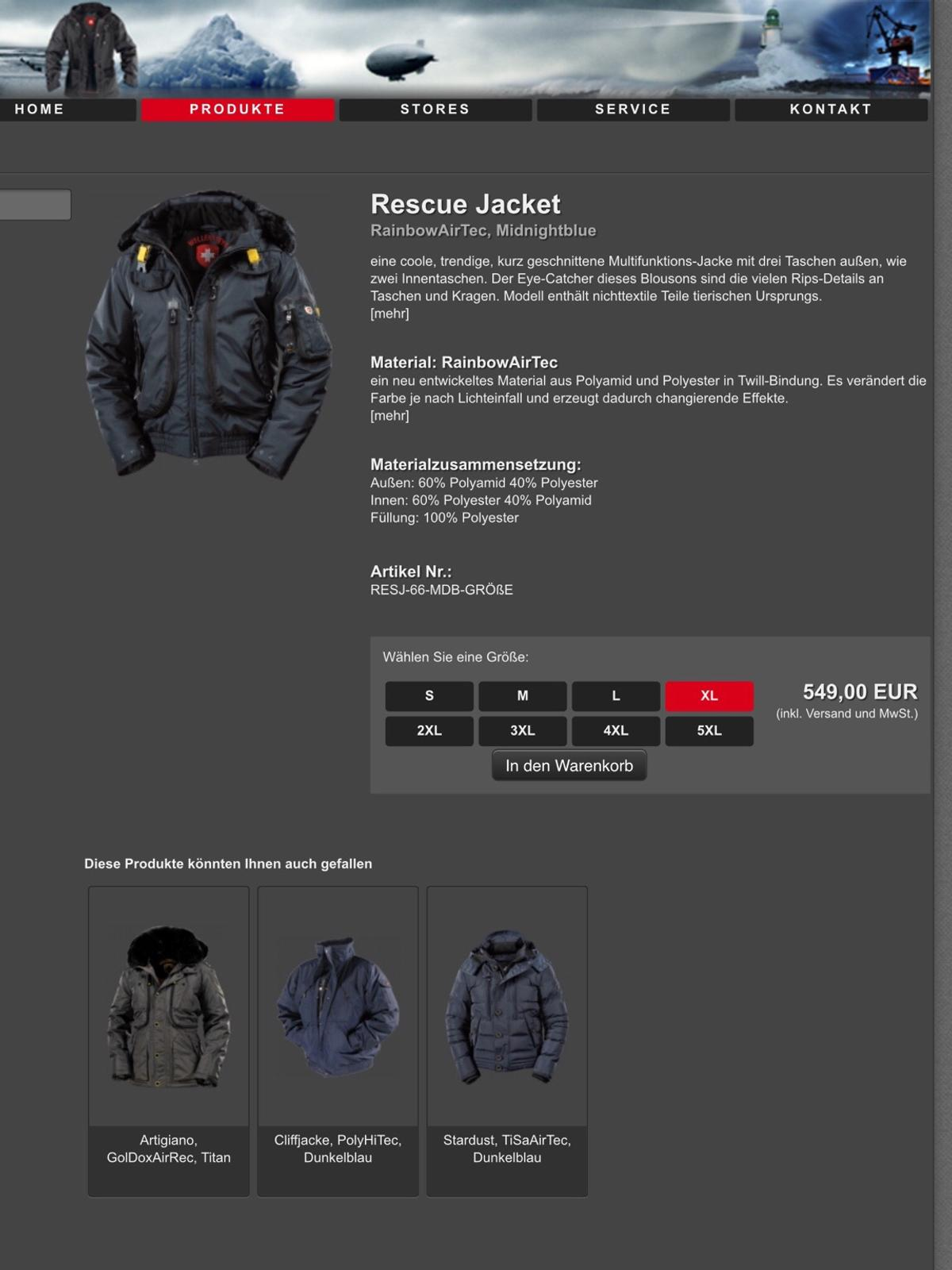 Wellensteyn Rescue Jacket, Midnightblue