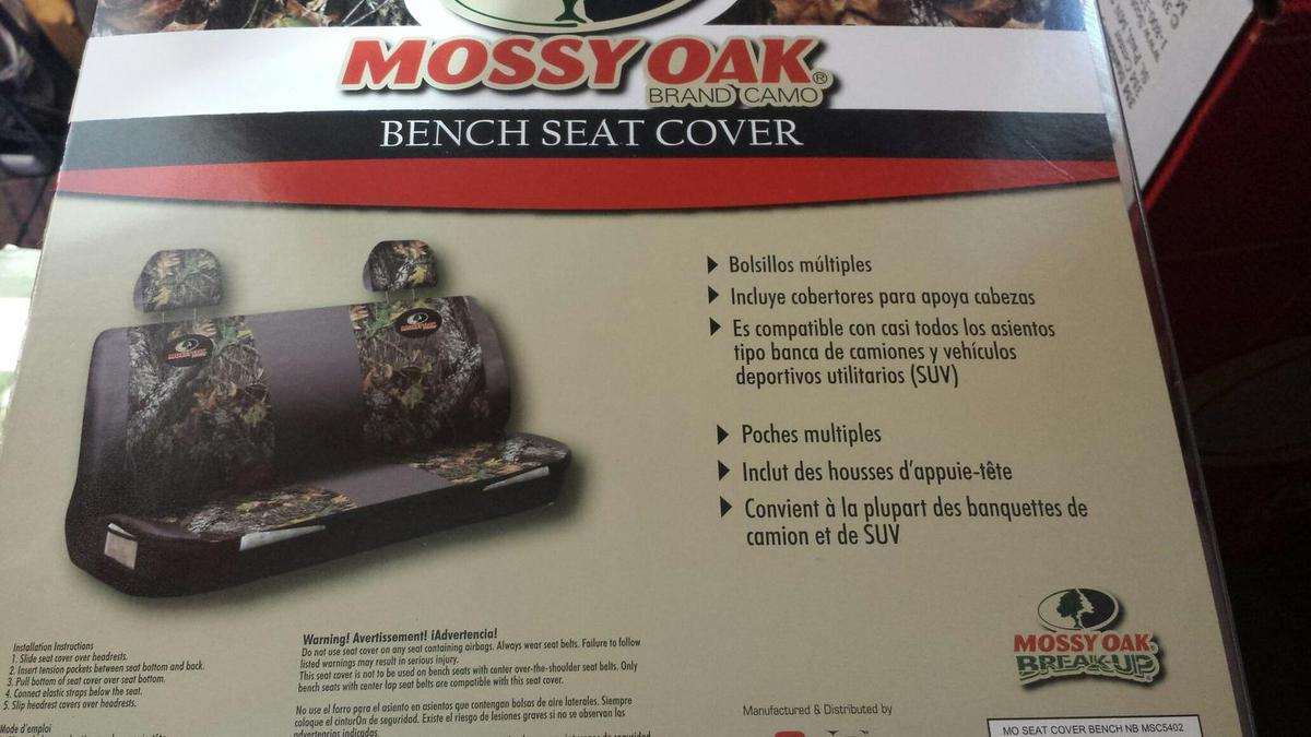 Awesome Mossy Oak Bench Seat Cover Caraccident5 Cool Chair Designs And Ideas Caraccident5Info