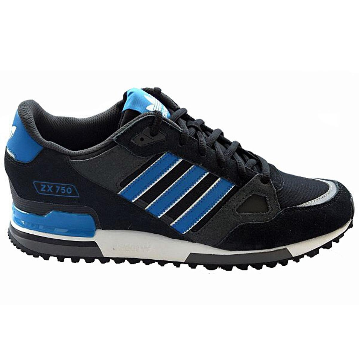 store on feet shots of newest collection **ADIDAS ZX 750 schwarz/blau Gr. 43 1/3 NEU**