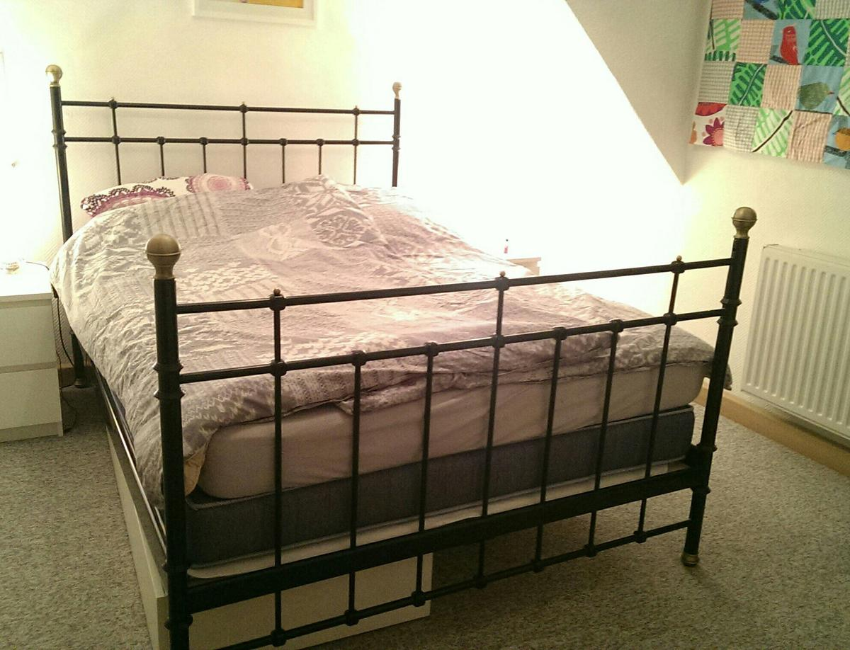 Ikea Metallbett 140 X 200 In Schwarz In 41464 Neuss For 99 00 For Sale Shpock