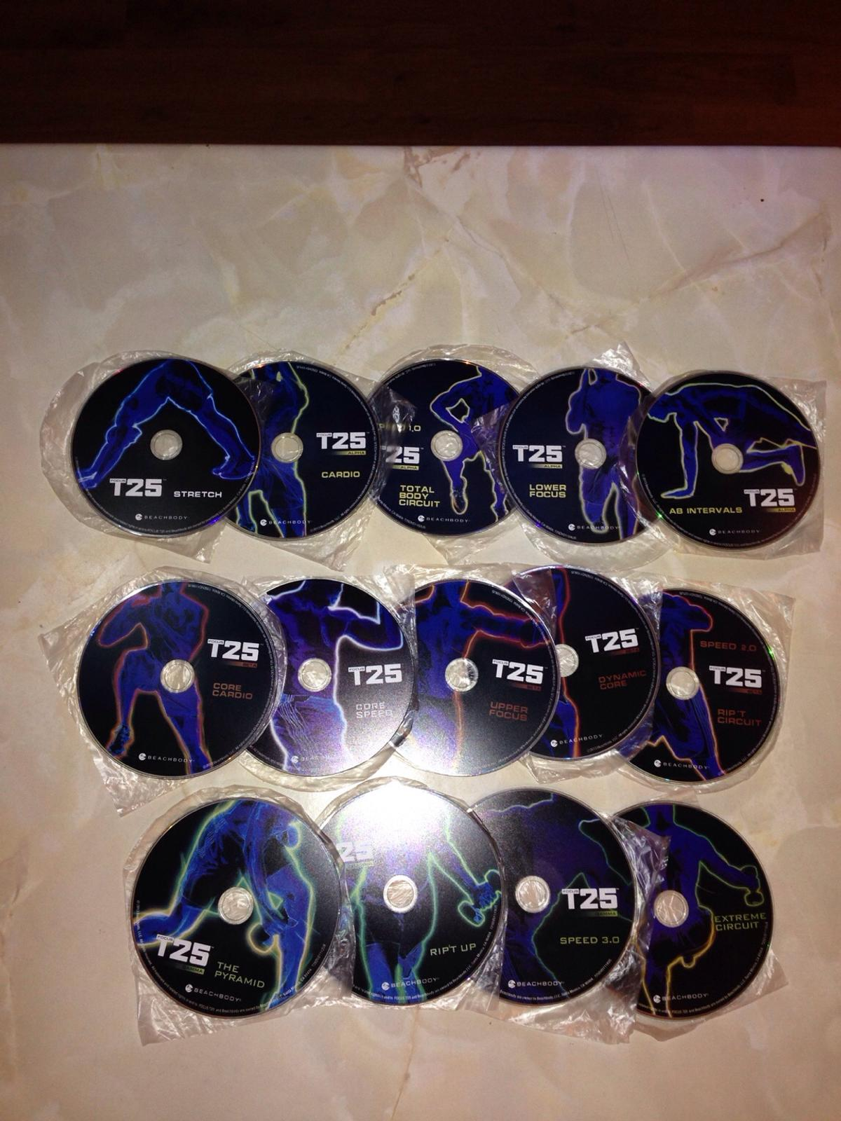 Focus T25 workout New with Shaun T's 14 DVDs in NN4