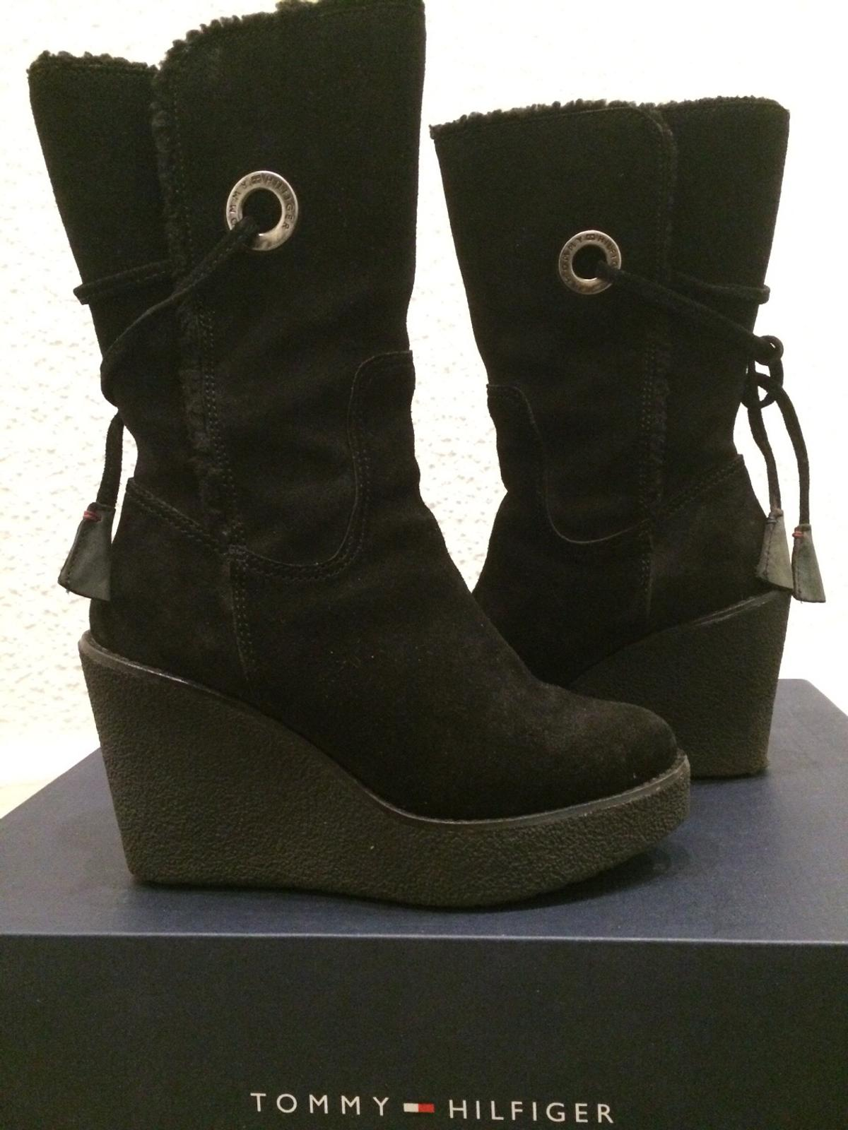 info for a9059 b9662 Tommy hilfiger Stiefel Boots Keilabsatz Gr 36