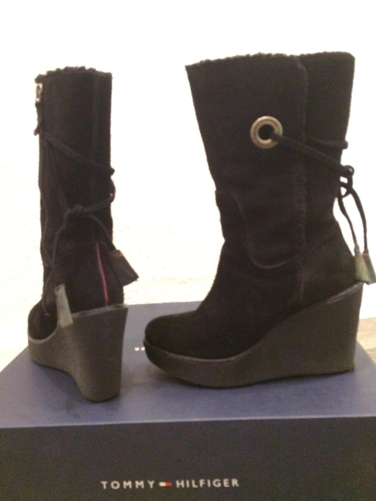 info for c5489 11c33 Tommy hilfiger Stiefel Boots Keilabsatz Gr 36