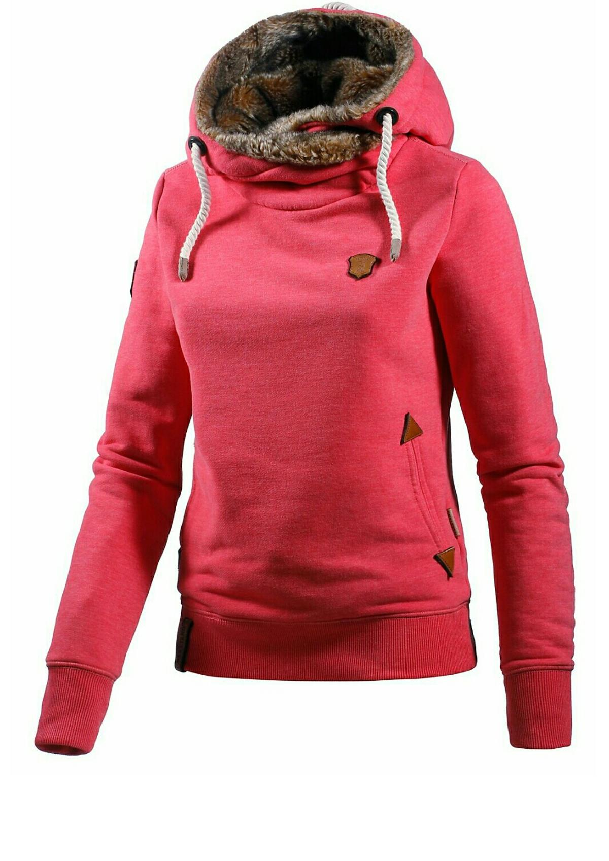 buy online 1702f 53aed Naketano Damen Pullover Pink mit Fell