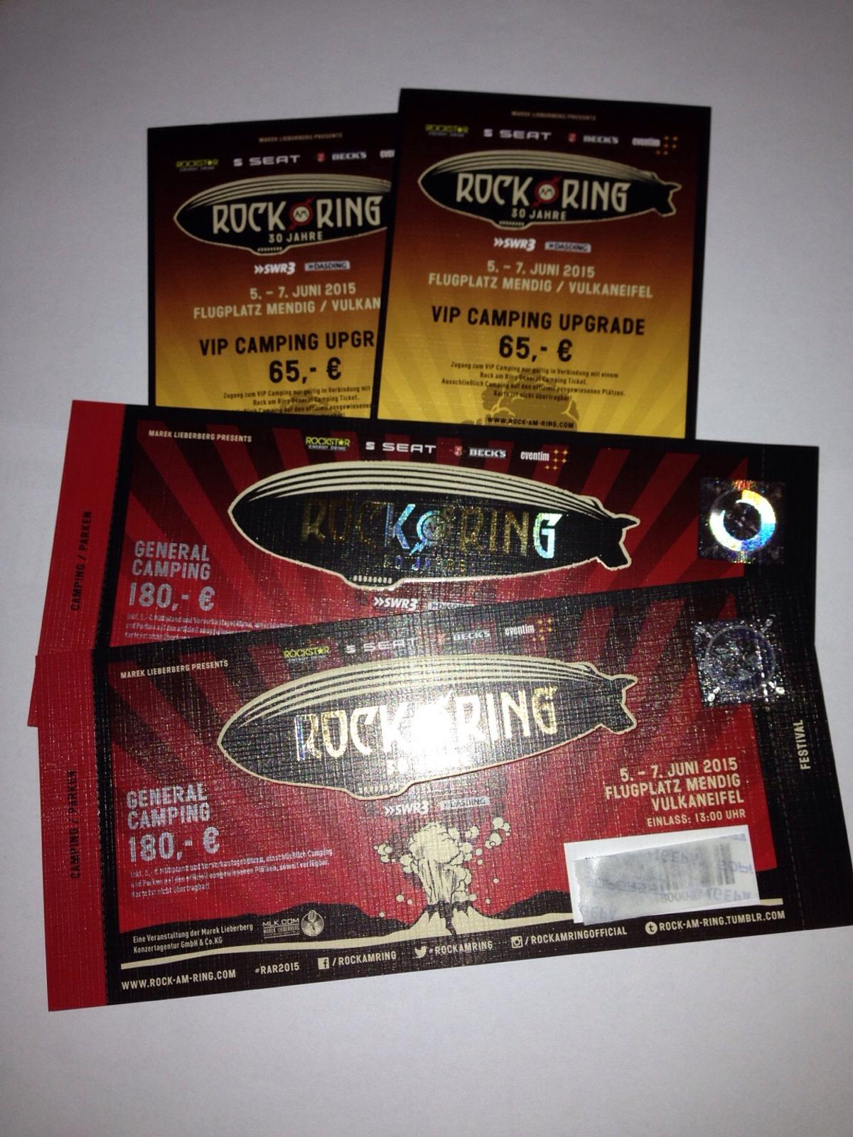 Rock Am Ring Karte.2 Rock Am Ring Vip Camping Tickets