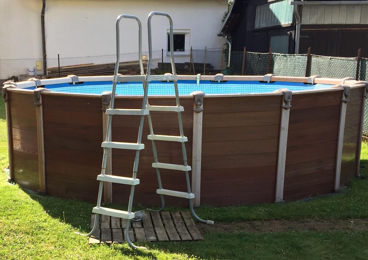 Wood Frame Pool Intex In 9170 Ferlach For 550 00 For Sale Shpock