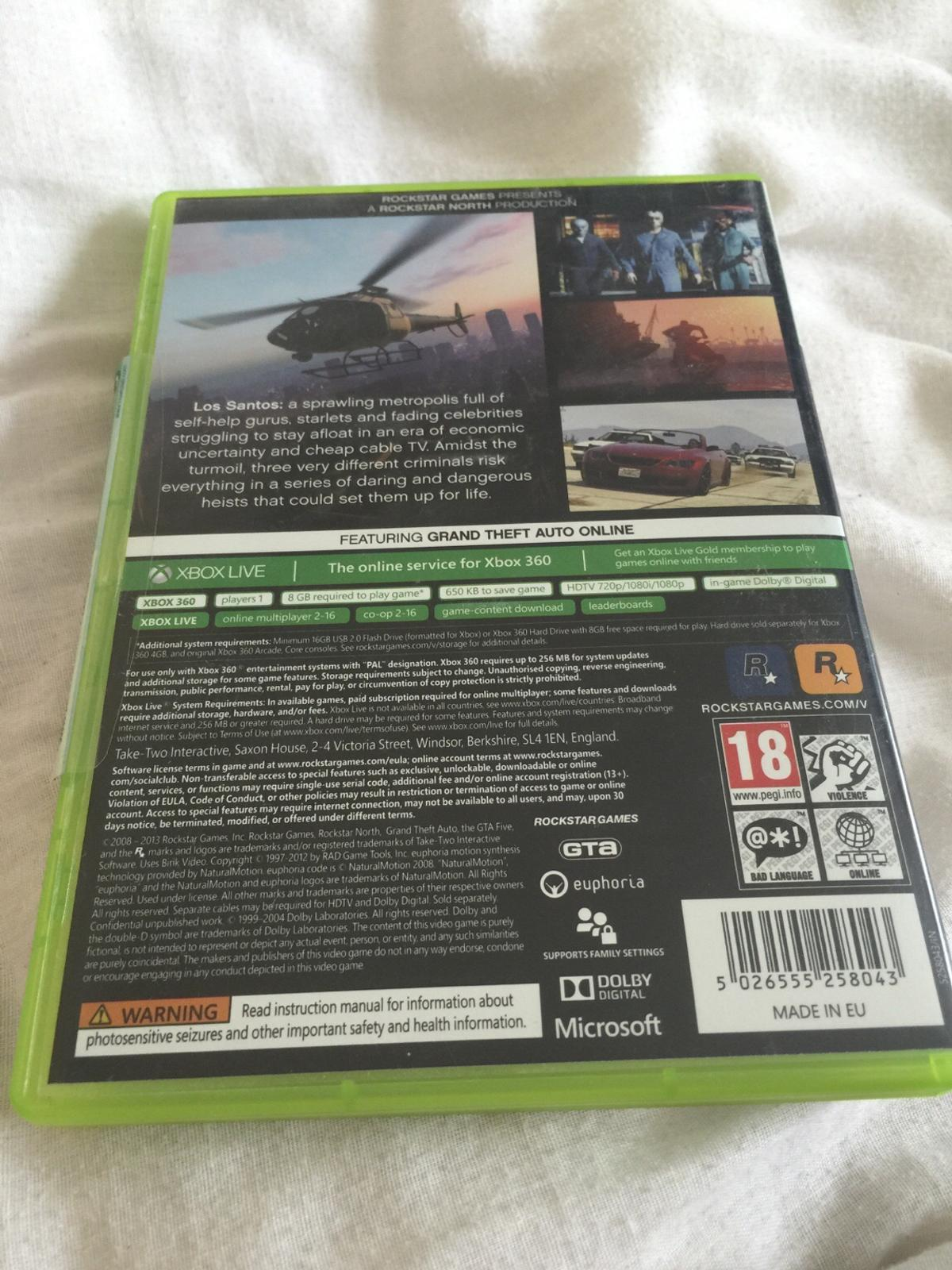 GTA 5 XBOX 360 in UB5 London for £5 00 for sale - Shpock