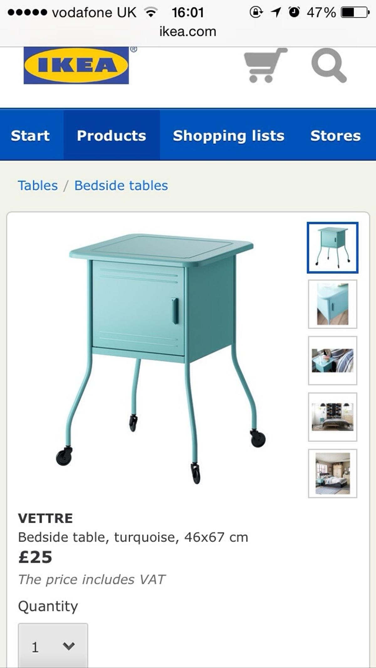 For Funky Chic Bedside Tables From The Ikea Vettre Range