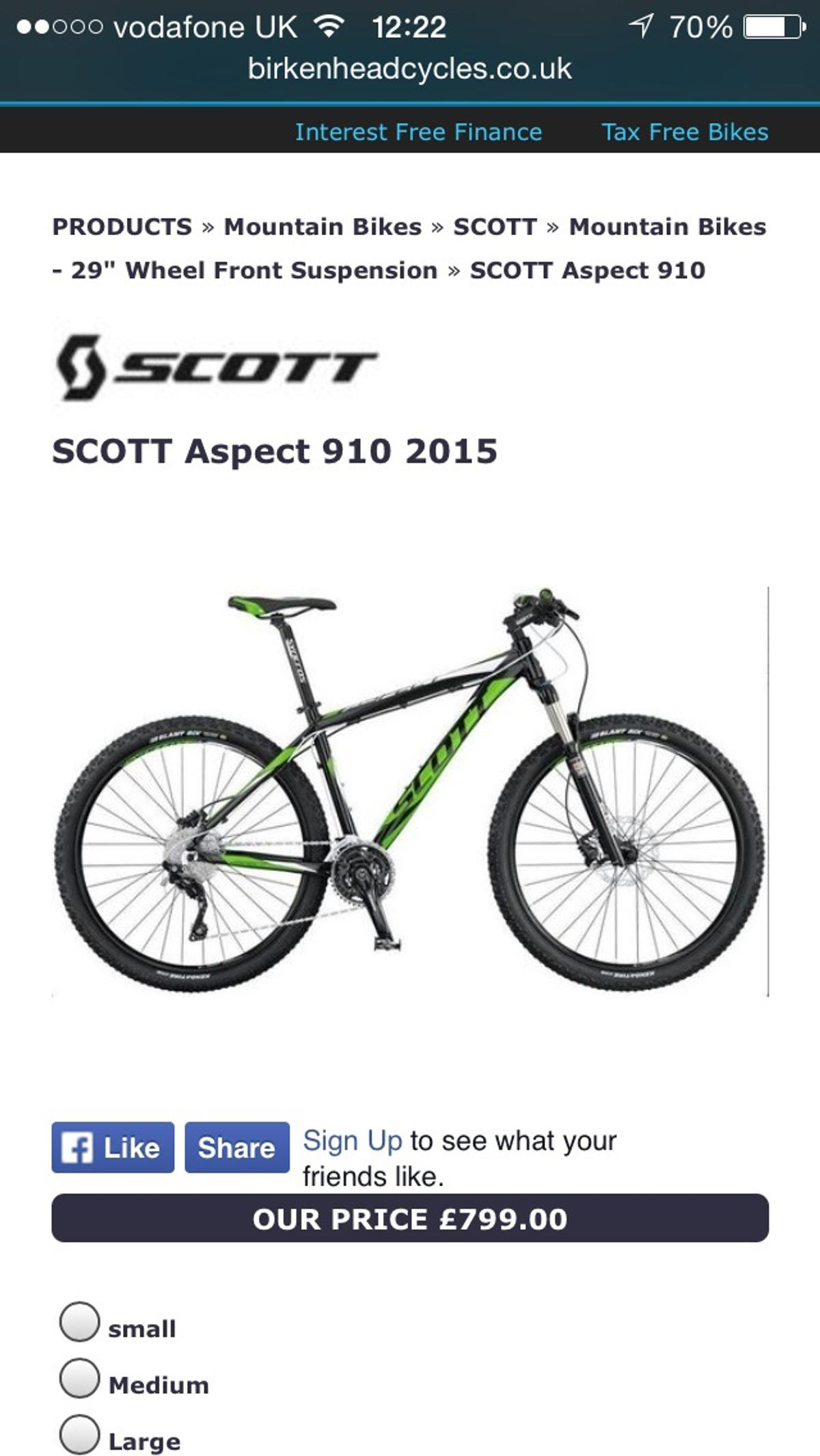 e598ee5a8dd Scott aspect 910 in CH44 Wirral for £500.00 for sale - Shpock