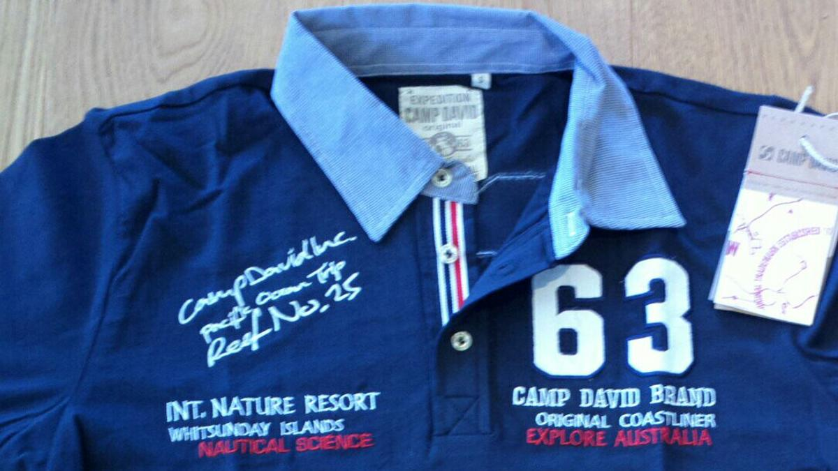 finest selection new authentic official site Camp David Poloshirt Gr. S und M Neu