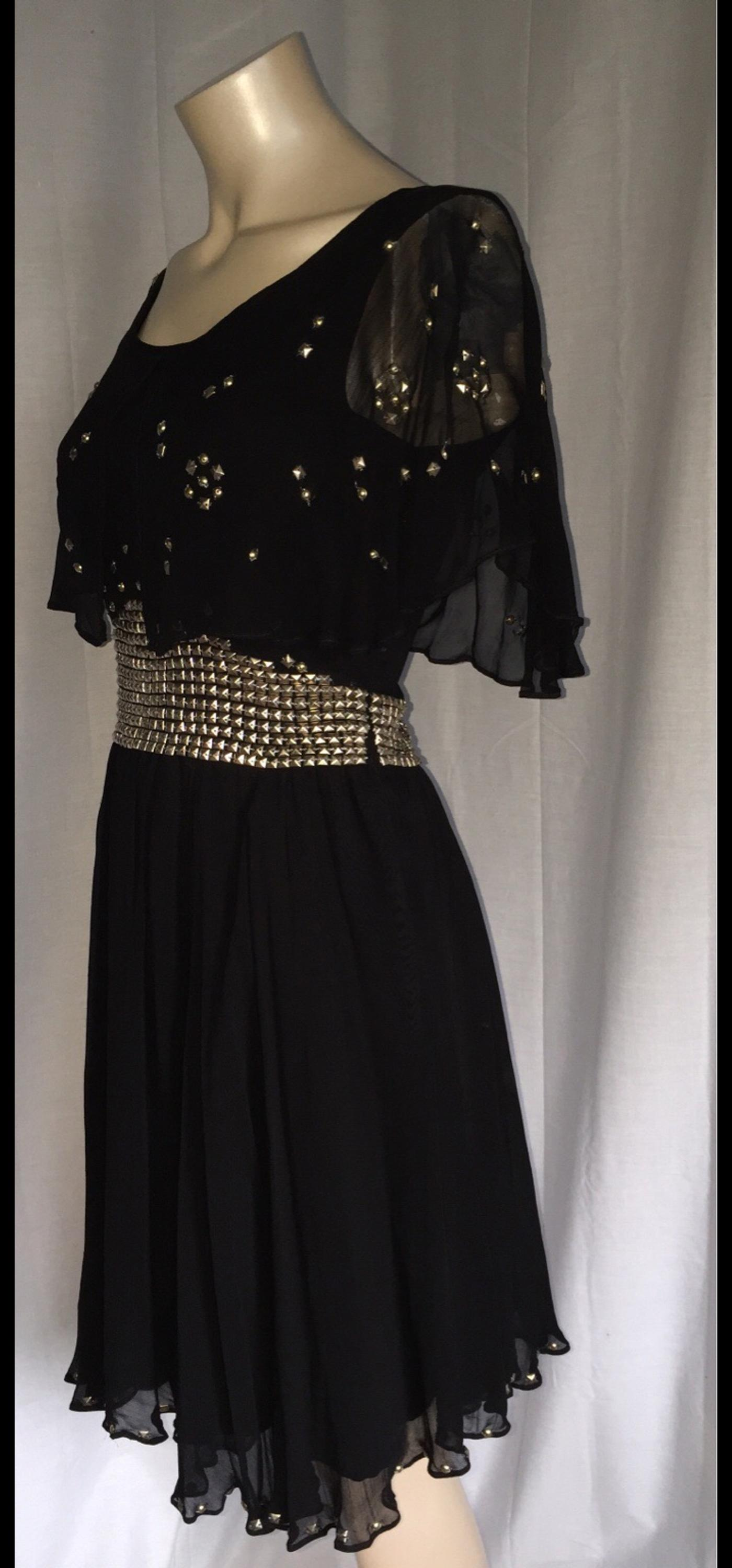 e6dae358ad235 KATE MOSS TOPSHOP BLACK STUDS CAPE DRESS UK 8 in LS27 Leeds for ...