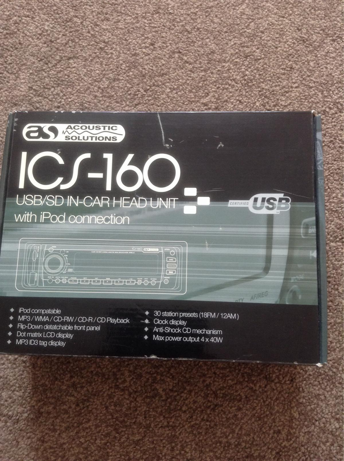 ICS-160 USB/SD in-car radio in KT19 Ewell for £50 00 for sale - Shpock