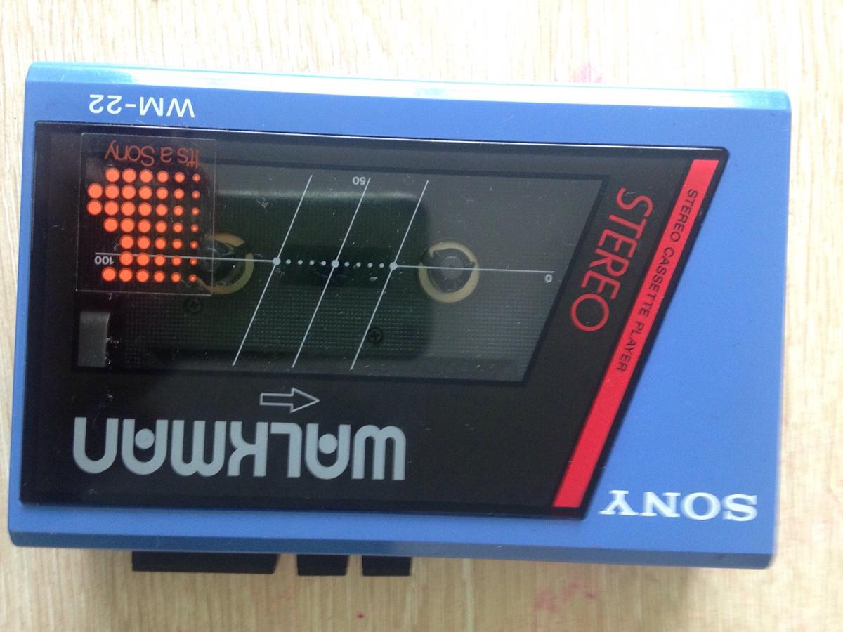 Sony Walkman WM-22 Blue Cassette Player in TS17
