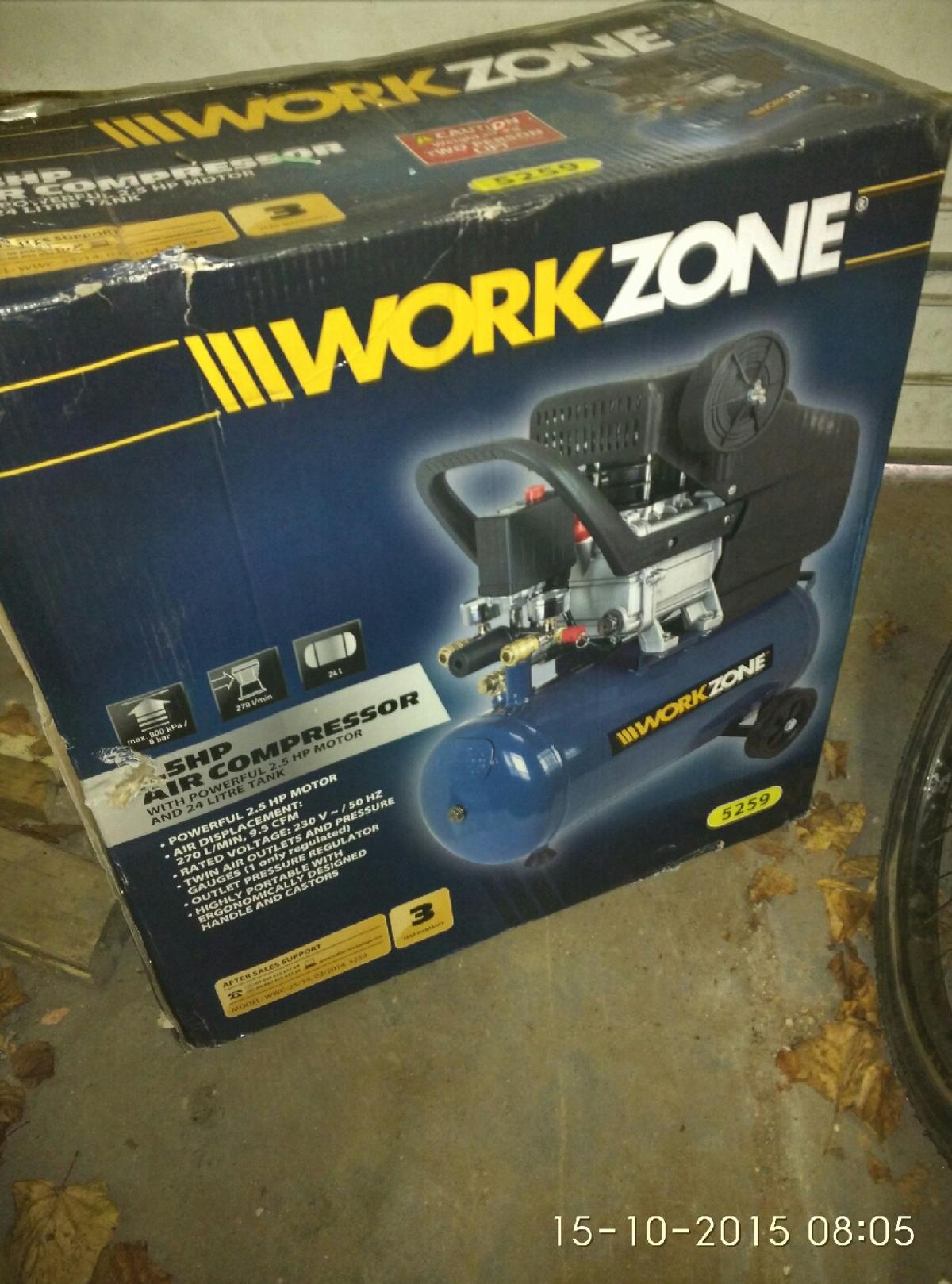 Workzone 2 5hp air compressor New