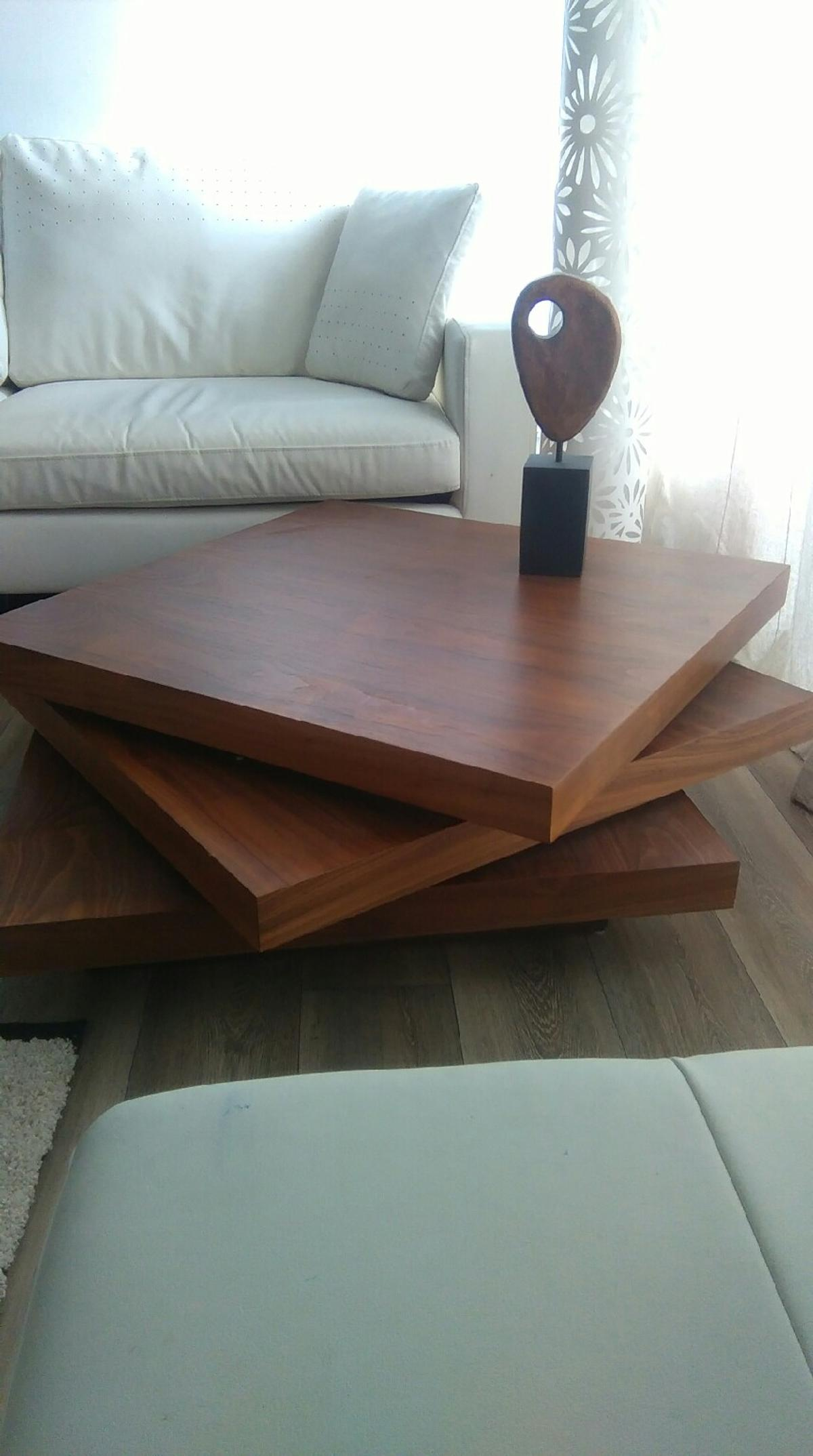 Dwell Coffee Table.New Dwell Triplo Square Swivel Coffee Table