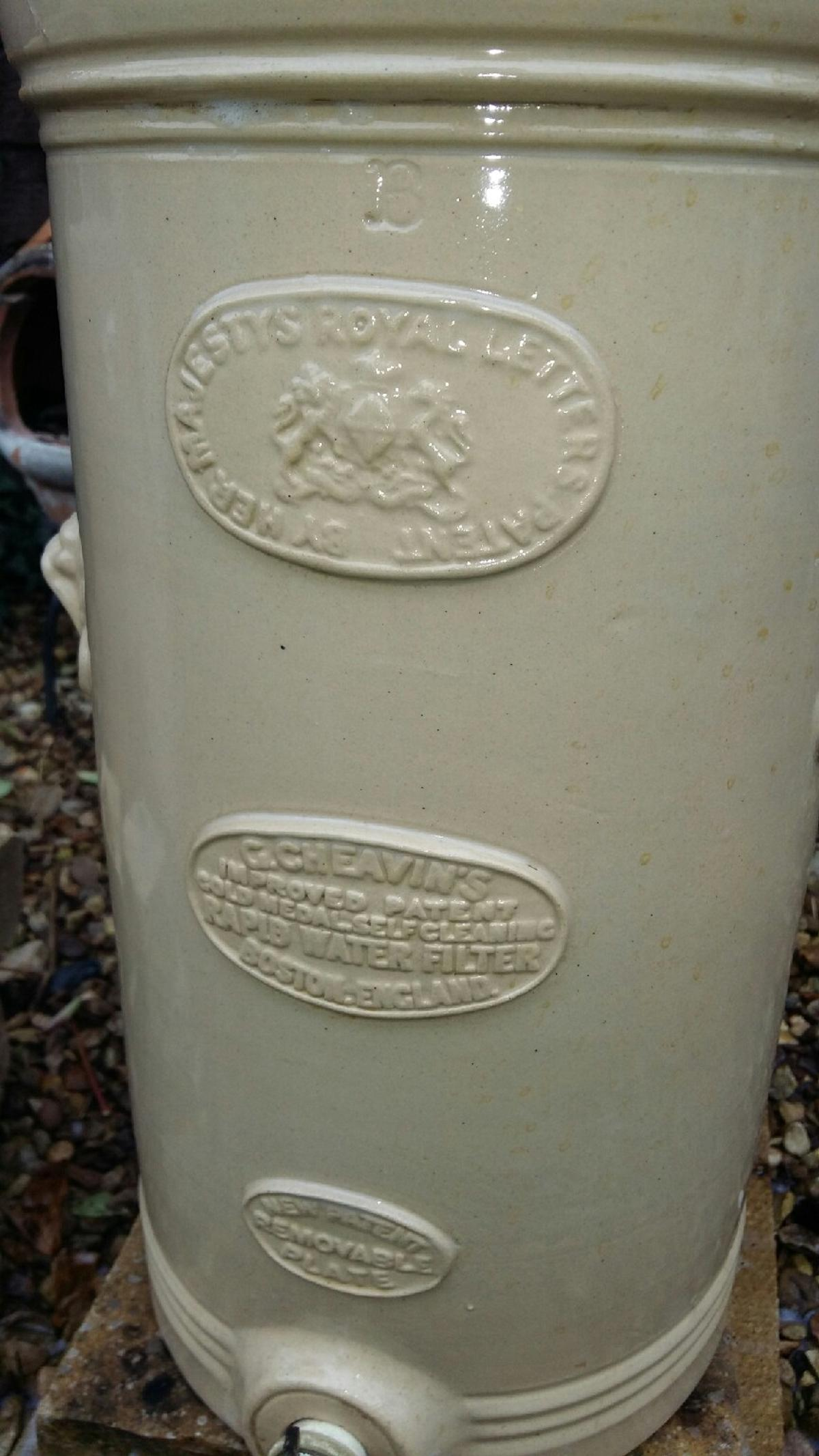 Victorian G  Cheavins Stoneware Water Filter in South