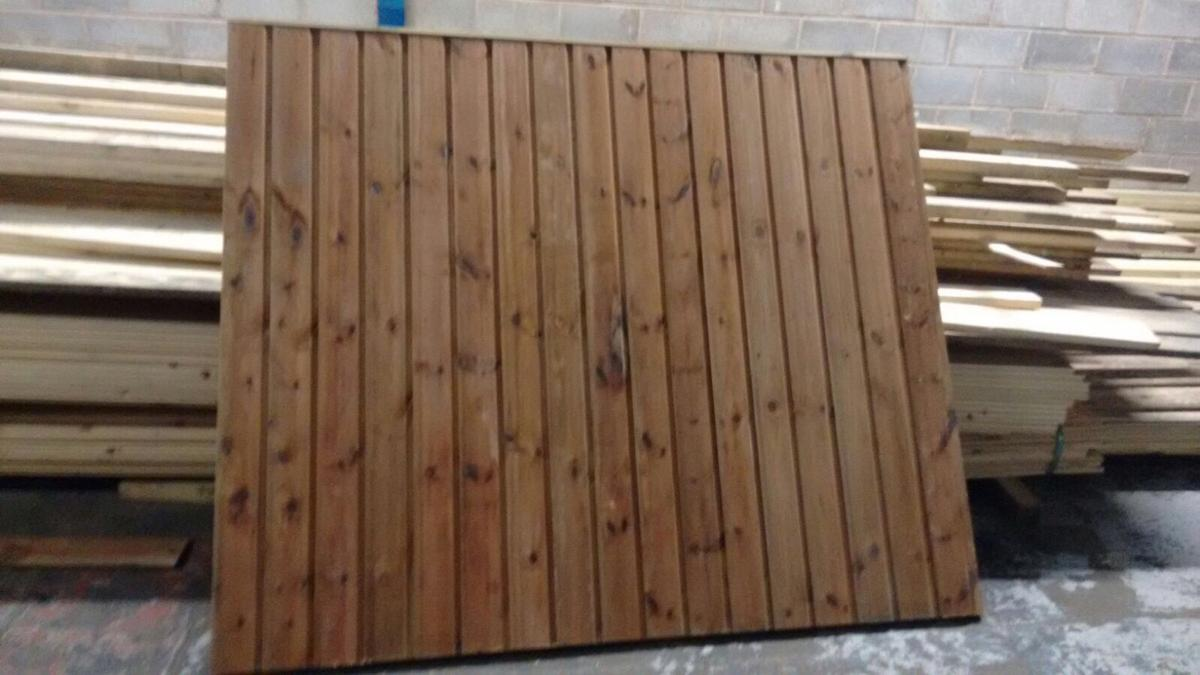 6' x 6' Shiplap Fencing/Fence Panels in B64 Sandwell for