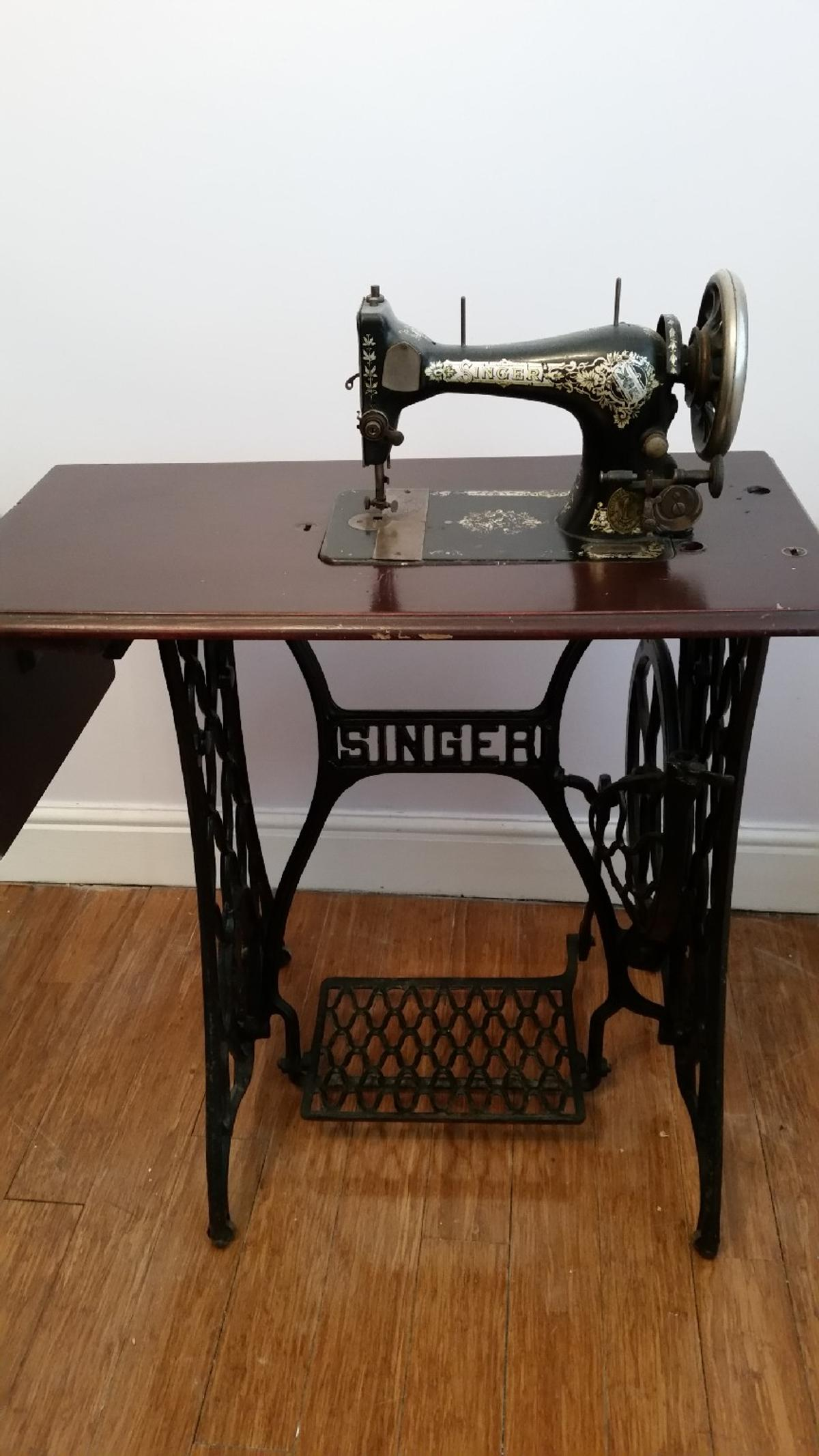 Old fashioned singer sewing machine