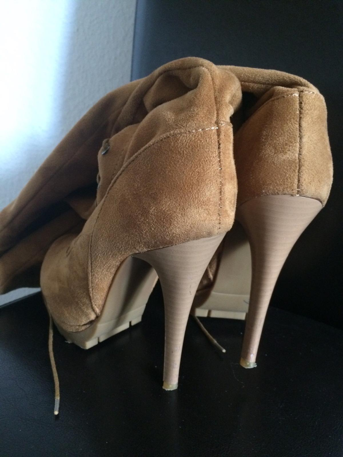 d06a194ecee1 overknee Stiefel high heels Plateau Camel in 37154 Northeim for ...