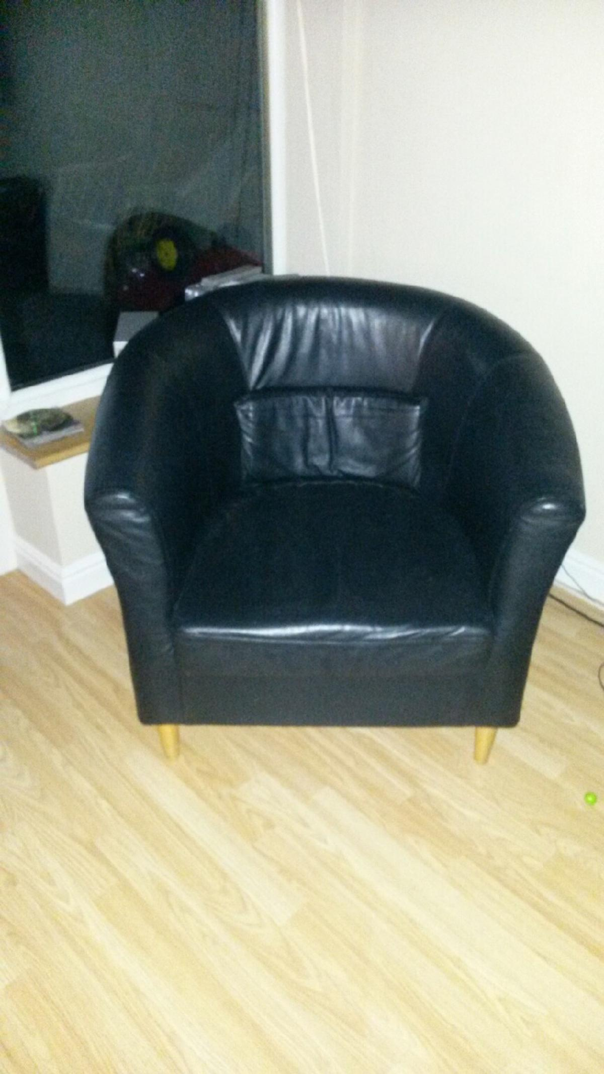 Miraculous 2 Real Leather Black Tub Chairs Squirreltailoven Fun Painted Chair Ideas Images Squirreltailovenorg