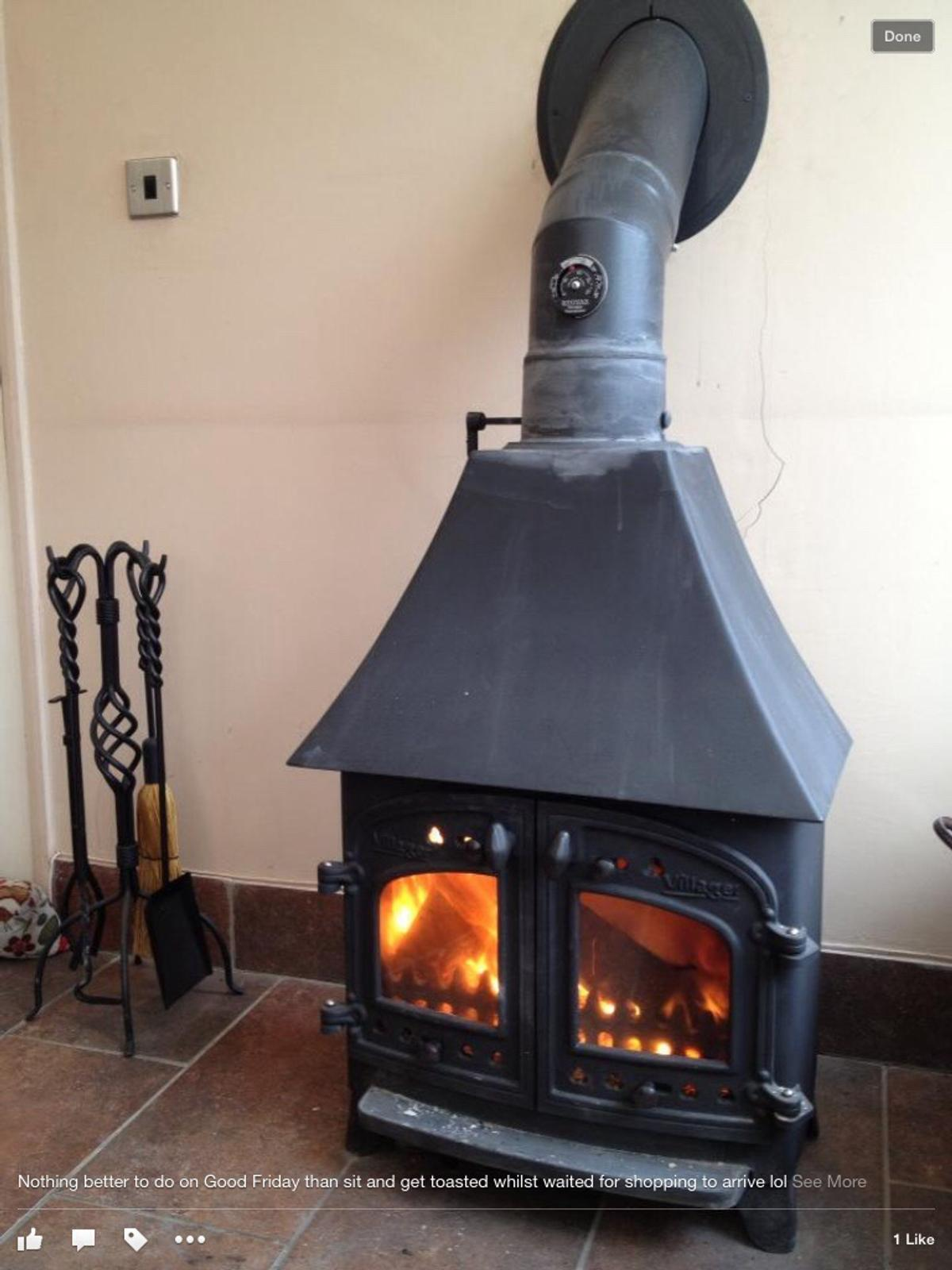 villager wood burning stove multi fuel