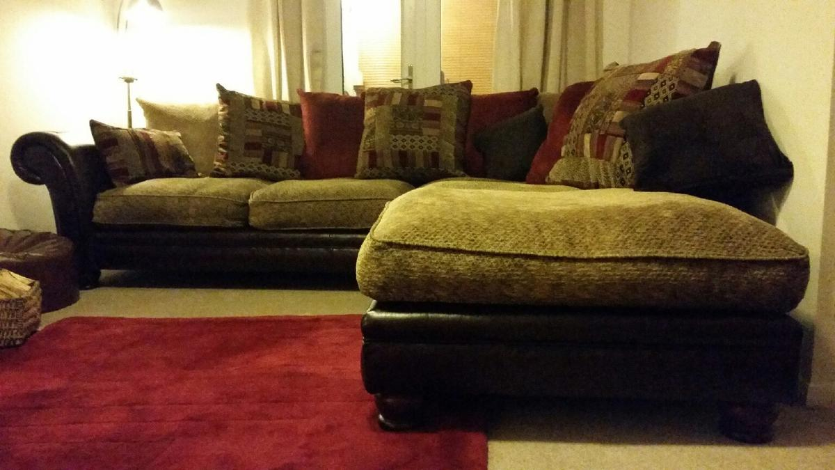 £550 DFS Perez Corner sofa, chair in Hinckley and Bosworth for £550.00 for sale - Shpock